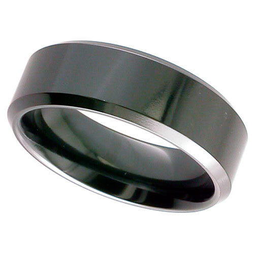 4026CHB - BLACK ZIRCONIUM RING