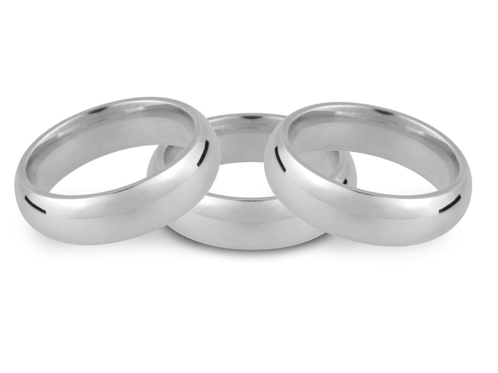 Silver Heavy Court Wedding Ring           2mm to 8mm Hallmarked