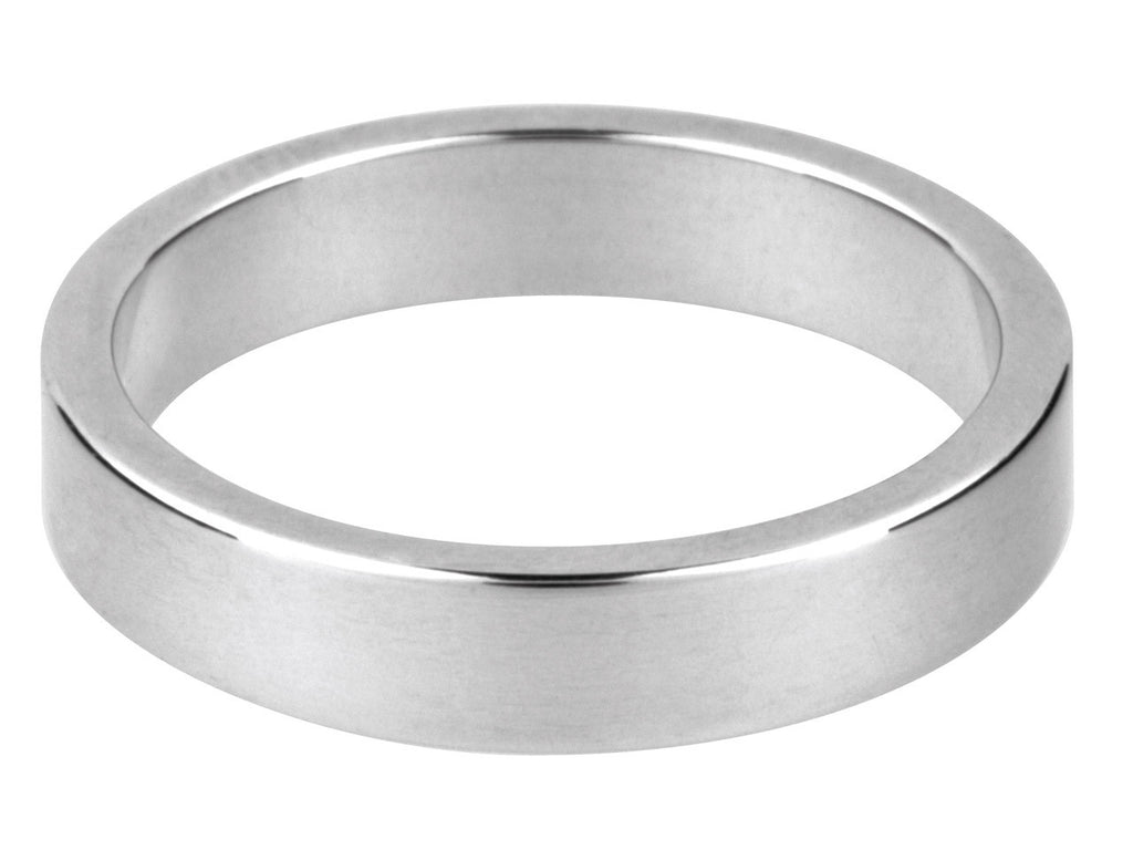 Silver Heavy Flat Wedding Ring      2mm to 10mm Hallmarked