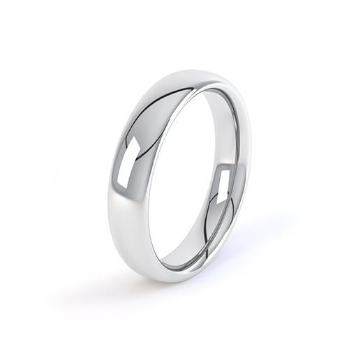 Court Wedding Ring - M Finger Size, 18ct-white-gold Metal, 2 Width