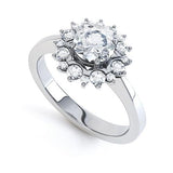 CX9 WILLOW - G Finger Size, palladium Metal, 0.15 Ct Diamond (undefined)