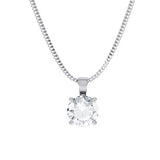 Tigerlily - PD252 - 16in Chain Length, palladium Metal, 0.15 Ct Diamond (undefined)