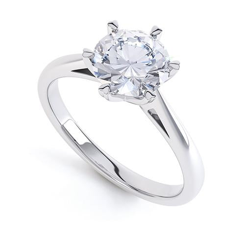 Daisy - R1326 - G Finger Size, platinum Metal, 0.3 Ct Diamond (undefined)