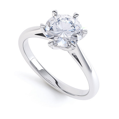 Daisy - R1326 - G Finger Size, palladium Metal, 0.3 Ct Diamond (undefined)