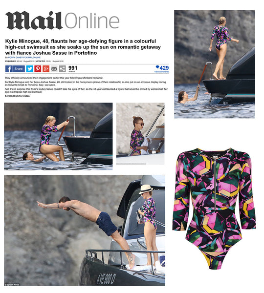 KYLIE MINOGUE WEARS THE REMY SWIMSUIT