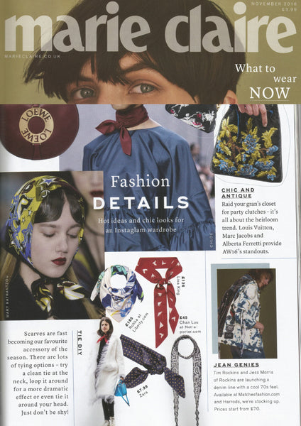 MARIE CLAIRE FEATURES LISA KING SKINNY SCARF