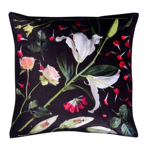MIRROR LILY SILK SATIN CUSHION 45 X 45