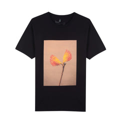 BLACK  SPLIT PROTEA UNISEX T-SHIRT