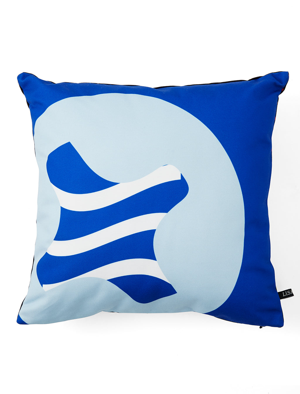 BLUE LISA KING X SIWILAI SCREWPRINT CUSHION