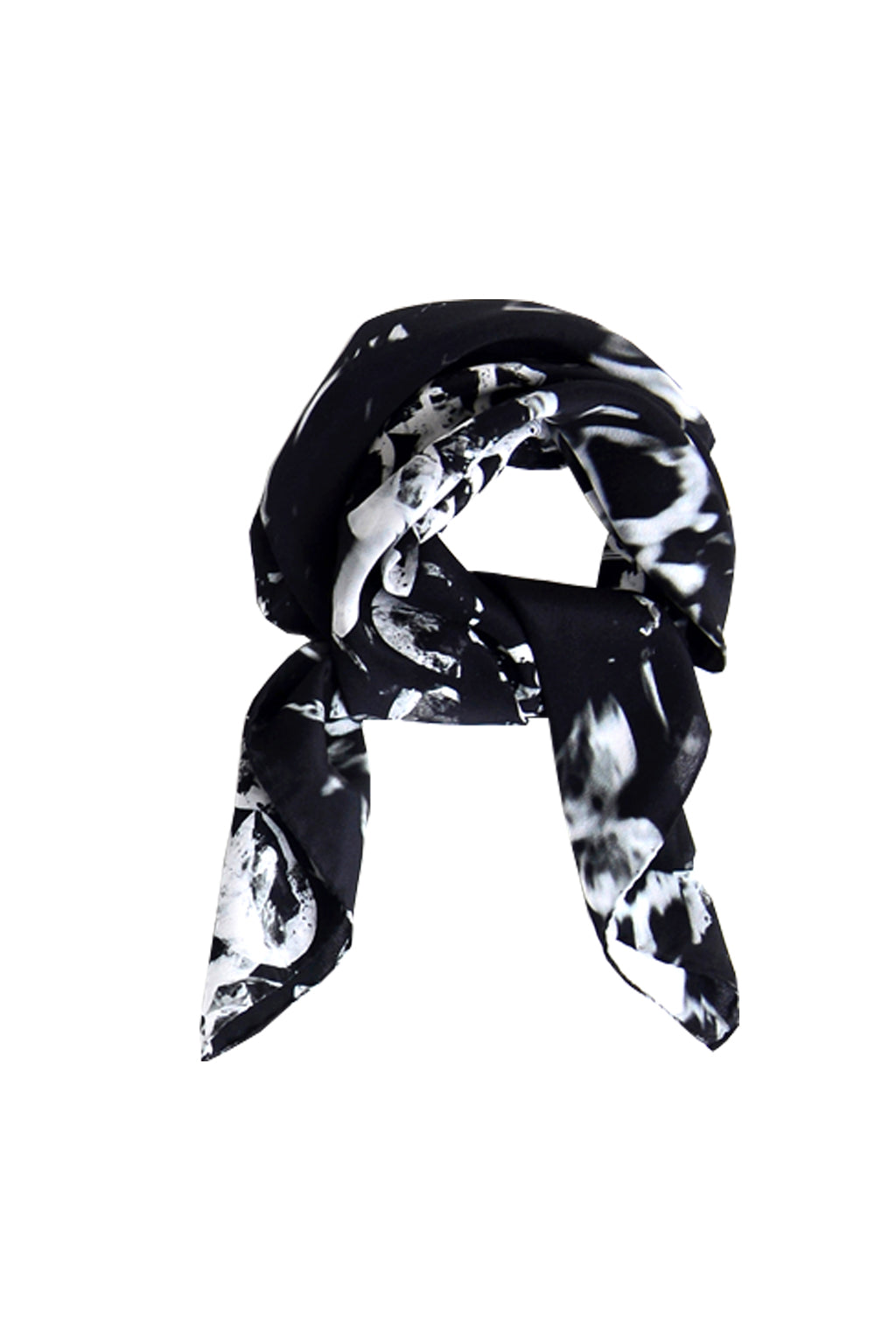 WHITE DIAMOND 70 X 70 CM SILK NECK SCARF