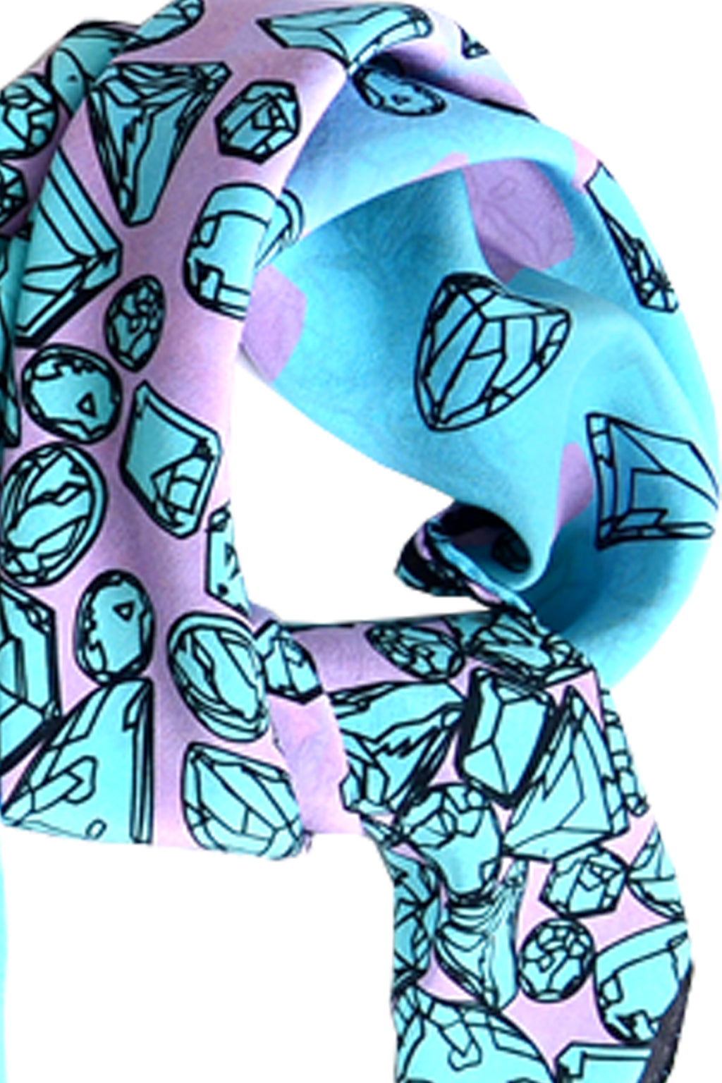 GEM SPOT 70 X 70 CM SILK NECK SCARF