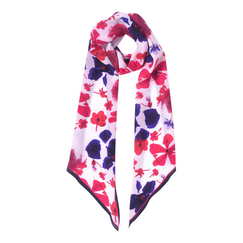 TAMARA BLUE LONG SKINNY SCARF