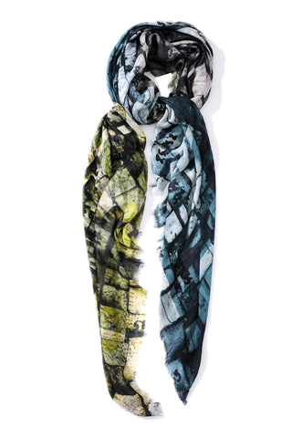 GREEN & GREY MODAL IRON 140 X 140 CM SCARF