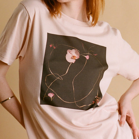 PINK SPLIT ROSE UNISEX T SHIRT