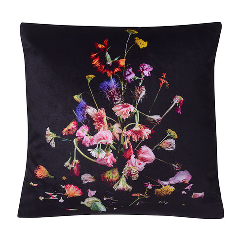 SUNFLOWER SILK SATIN CUSHION 45 X 45