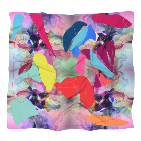 BABYLON BLUE SILK SCARF