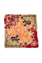 YELLOW CASHMERE MODAL LION OF EDEN 140 X 140 CM SCARF