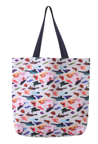 ORCHID CAMO COTTON 45X45 TOTE BAG