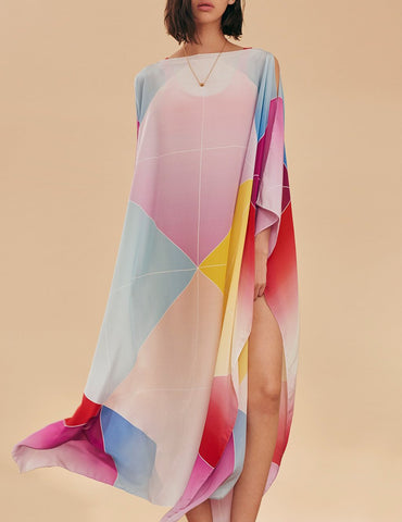 SCREWPRINT AVA SILK KAFTAN