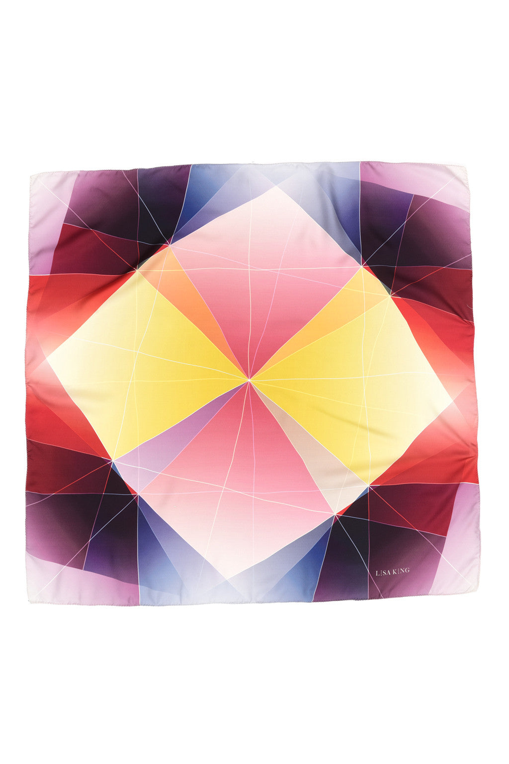 MULTICOLOUR FATE SILK 90 X 90 CM SCARF
