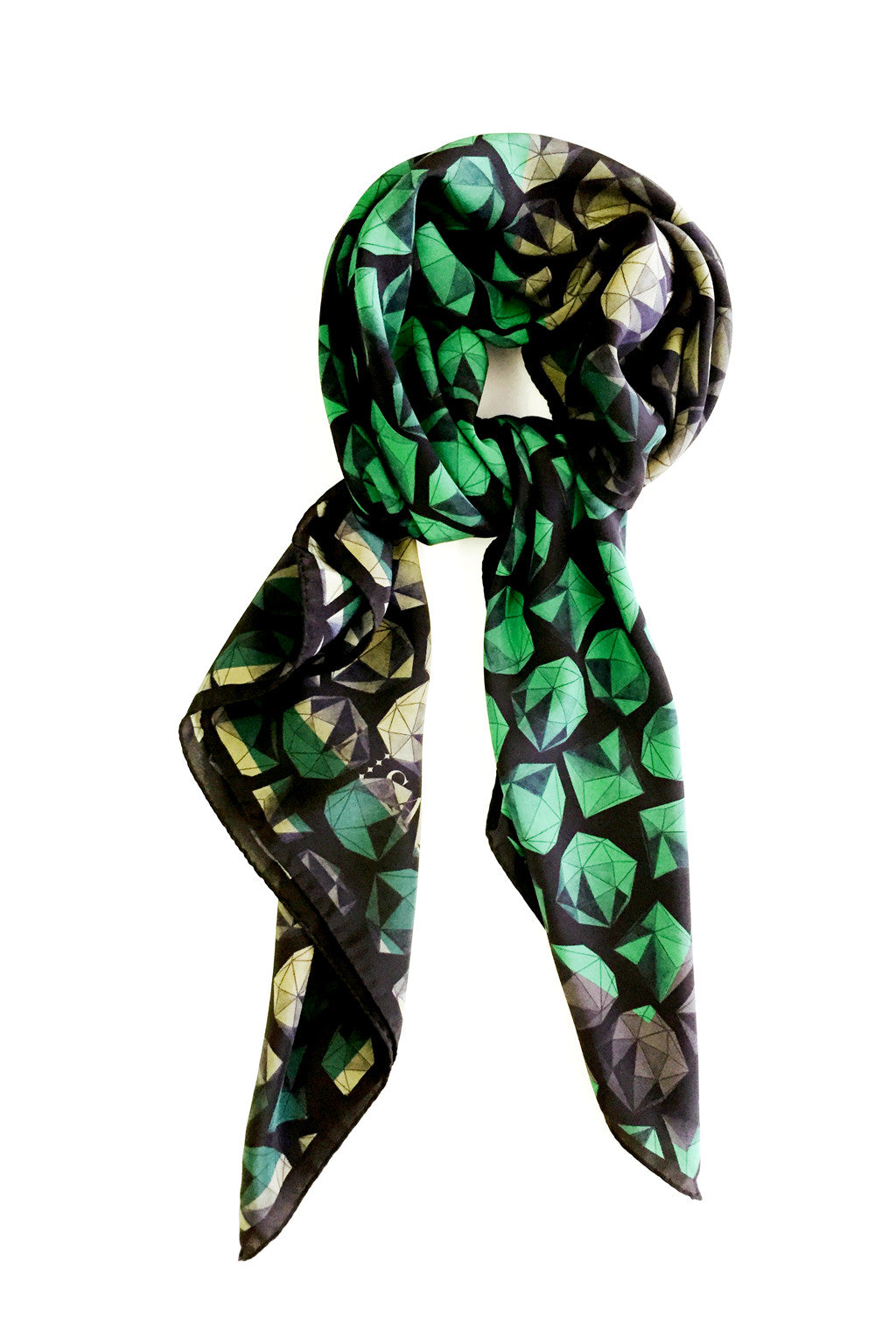 GREEN SILK SPHERE GREEN 104X120 CM SCARF
