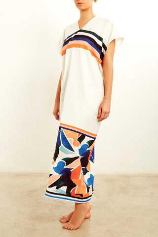 MON DRESS IN ANDAMAN PRINT (SOLID)