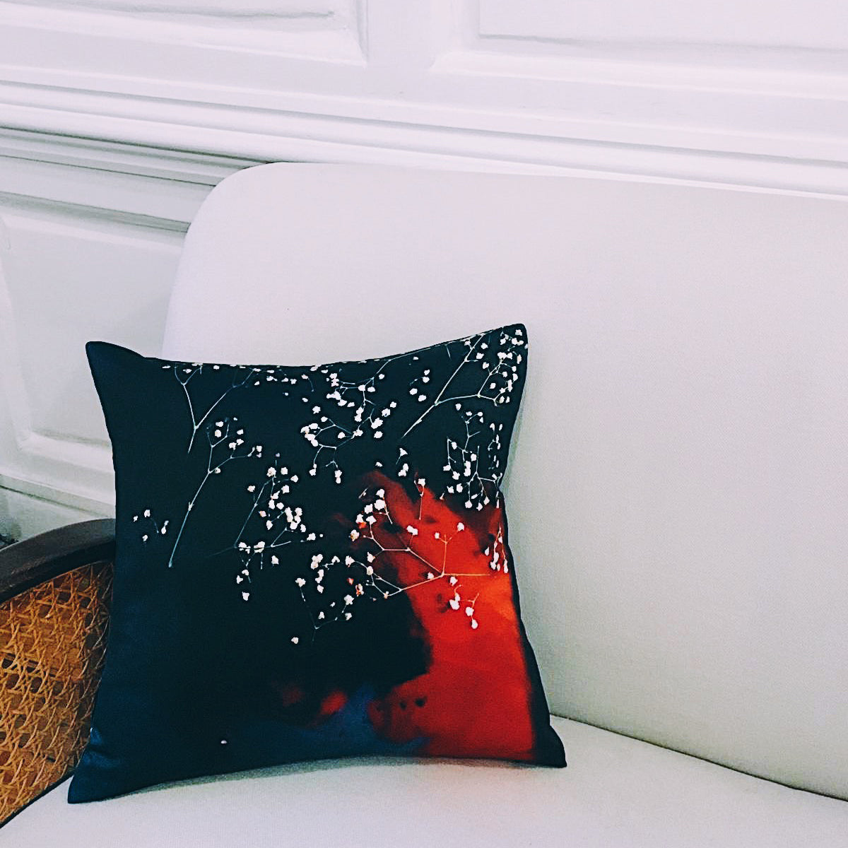 PRINT LAB: GYSOPHILA SILK CUSHION SMALL