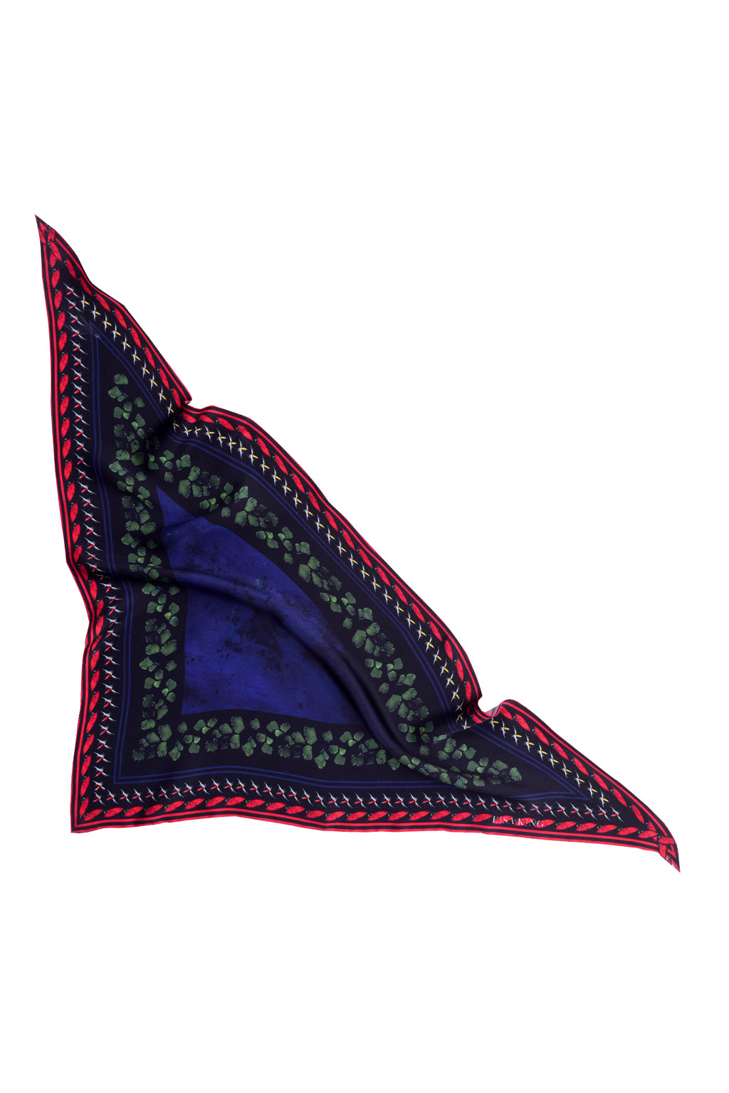 PATCHOULI TRIANGLE SILK NECK SCARF