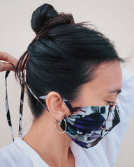 SILK FACE MASK - GLADYS PRINT