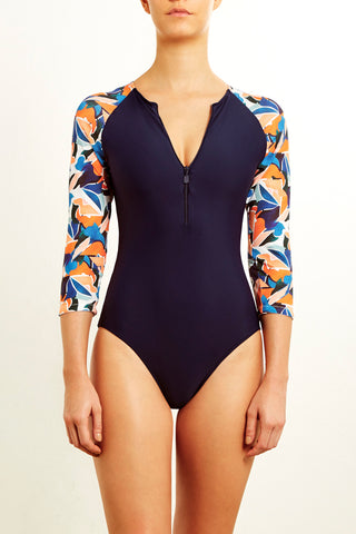 DEVYN SWIMSUIT IN DOVE PRINT