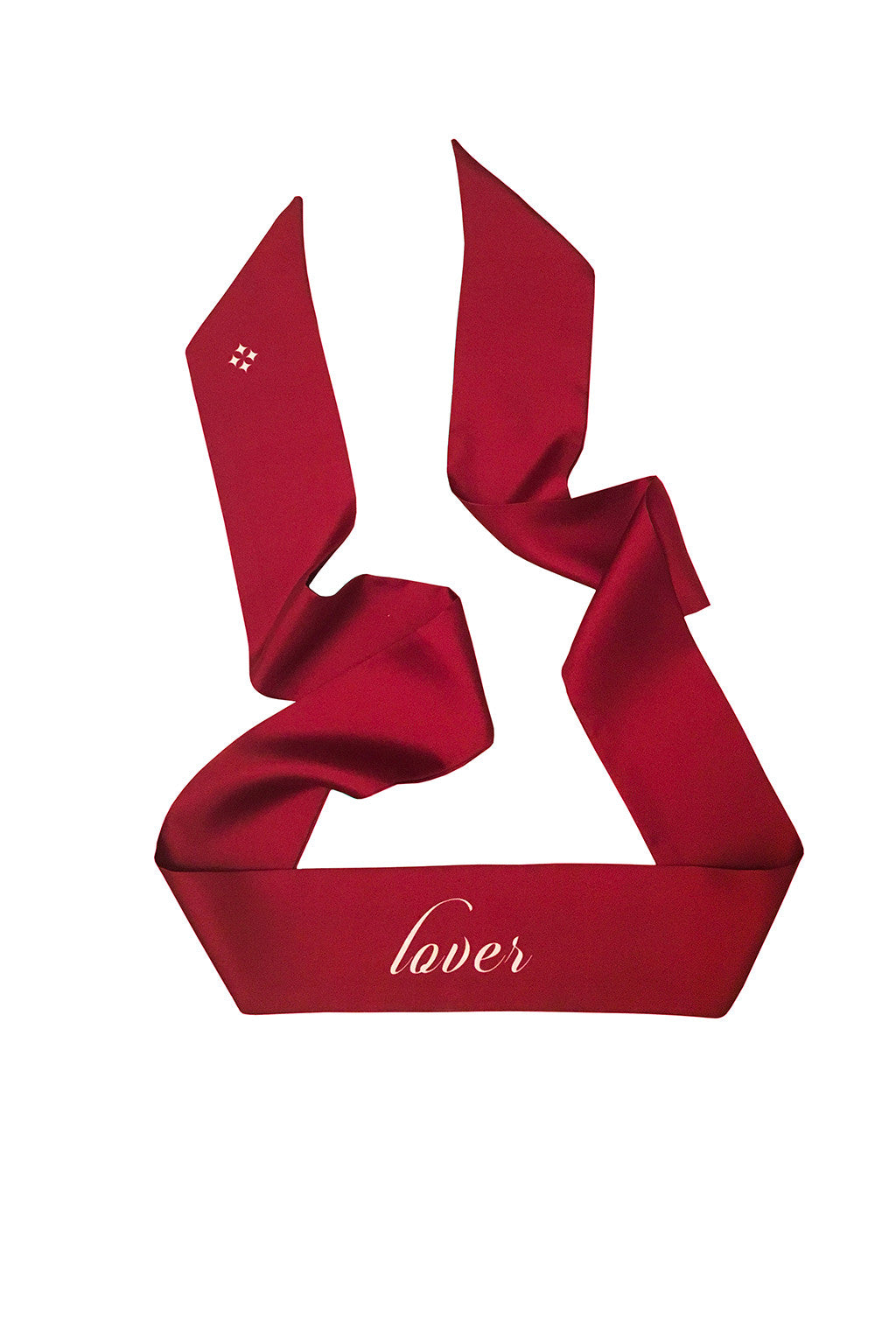 RED LOVER FIGHTER REVERSIBLE SILK SKINNY SCARF