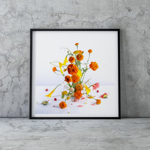 SPLIT FLOWERS ART PRINT