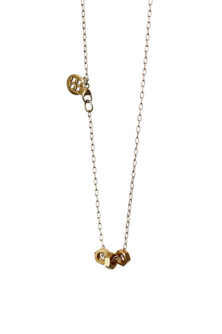 GOLD NUTS NECKLACE