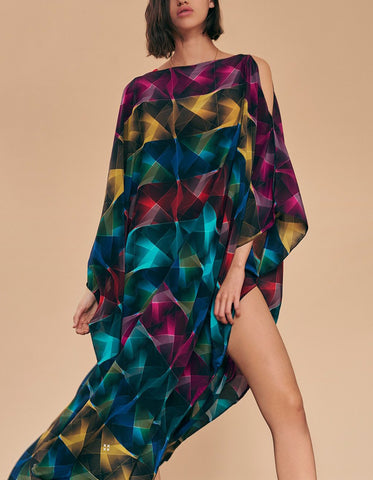 PLAID AVA SILK KAFTAN