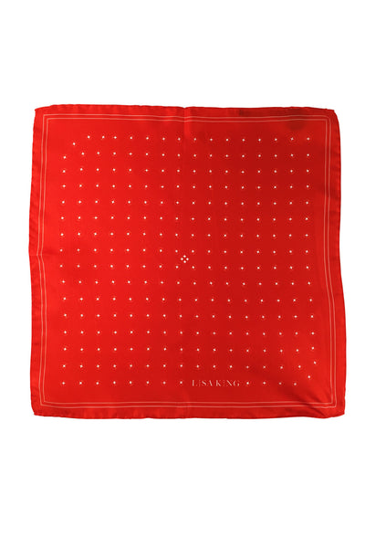 RED SILK TWILL POCKET SQUARE