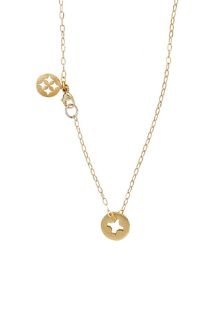 GOLD SCREW NECKLACE