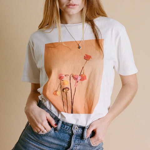 SPLIT SUNFLOWER UNISEX T SHIRT