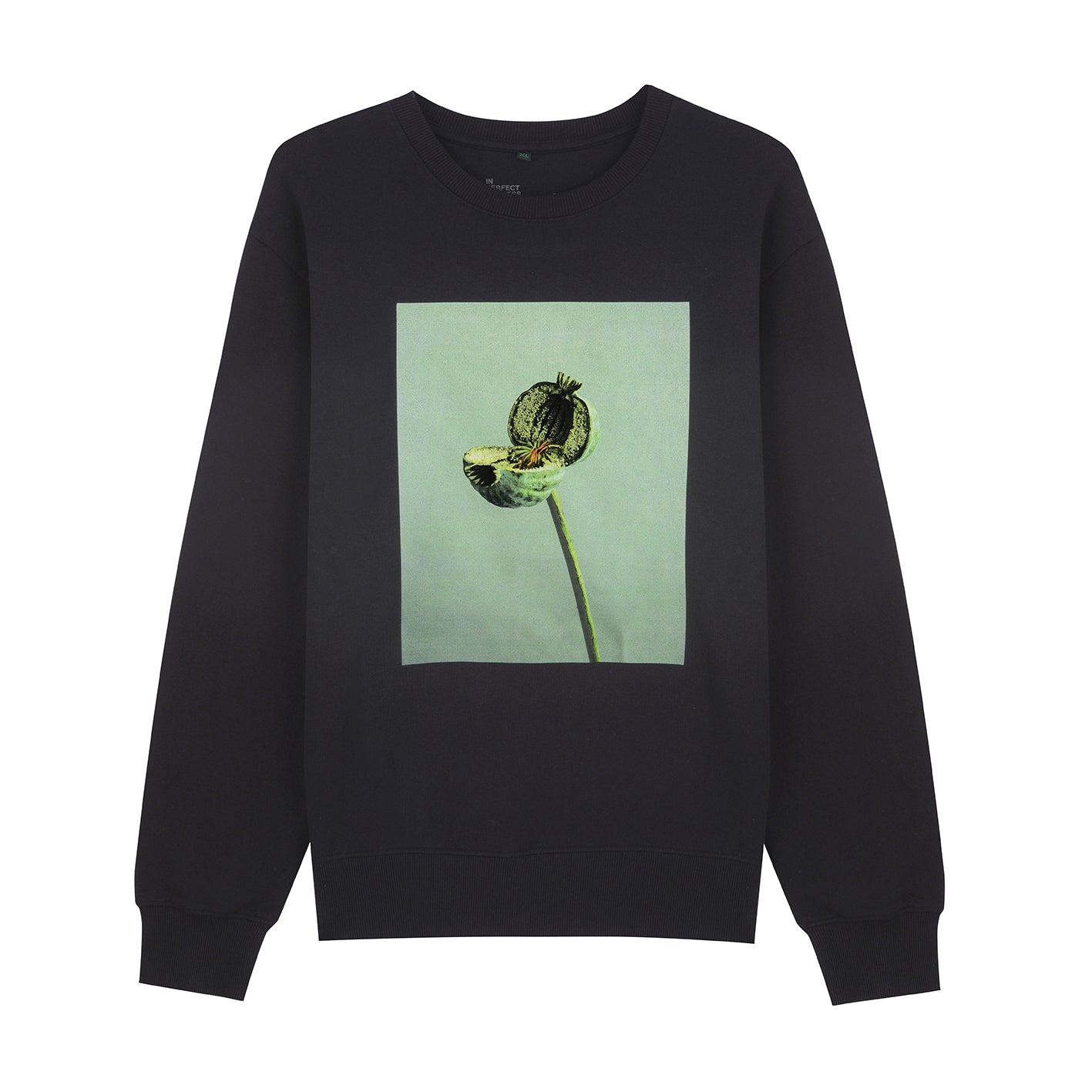 BLACK SPLIT POPPY UNISEX SWEATSHIRT