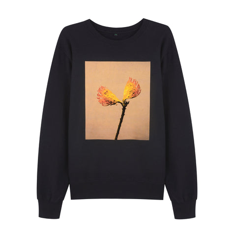 ORANGE SPLIT FLOWERS UNISEX T SHIRT