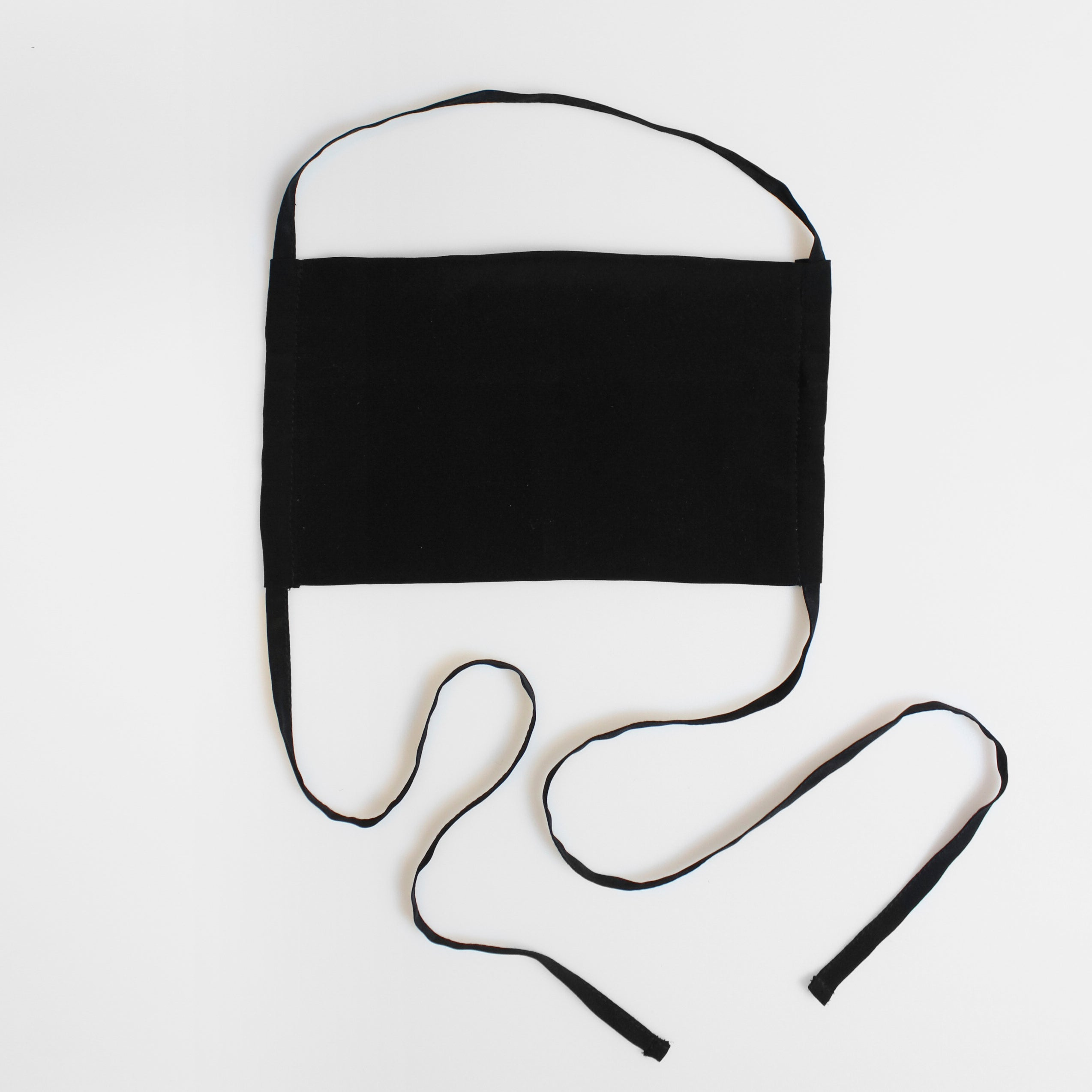 SILK FACE MASK - PLAIN BLACK