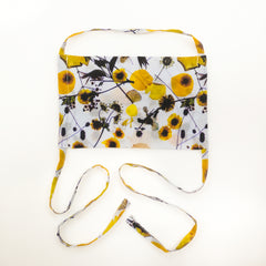 KIDS SILK FACE MASK - DANDELION PRINT