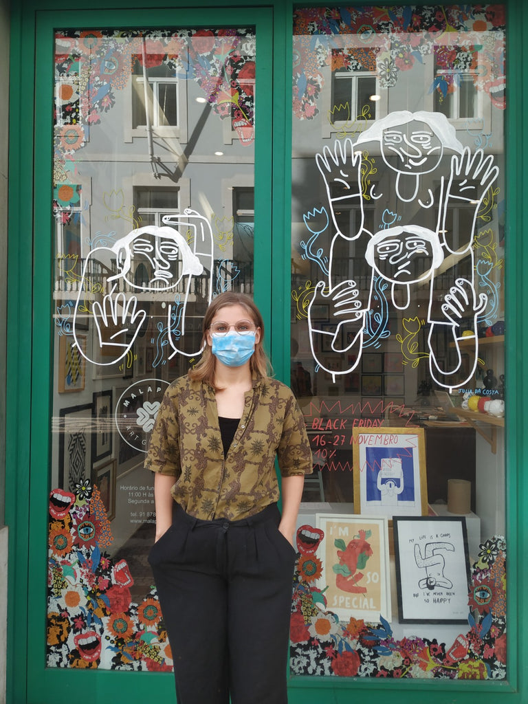 Julia da Costa is the artist behind our window this month!