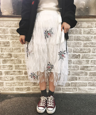 PAGEBOY embroidery skirt