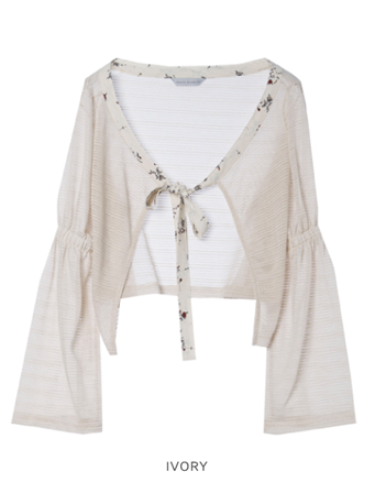 GRACE RAIMENT tie cardigan