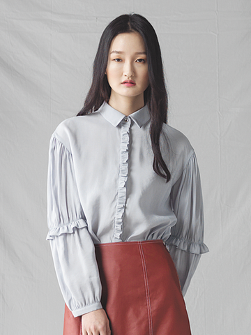 GRACE RAIMENT shirring sleeve shirt