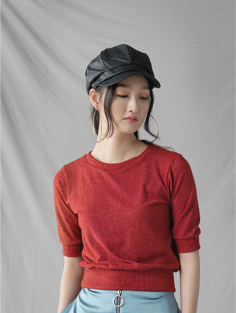 GRACE RAIMENT pearl knit tee