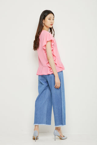 LAP ruffles sleeves top