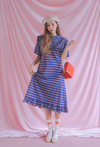 STYLENANDA frilled shadowed stripe dress