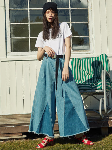 MURUA super wide denim pants