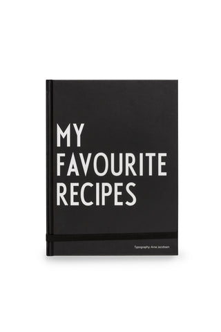 design letters my favourite recipes book